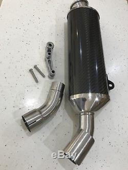 Triumph Speed Triple 955i High Level Silencer Daytona Carbon Exhaust A9600120