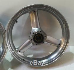 Triumph T509 T595 955i Speed Triple Daytona Sprint Polished Wheels
