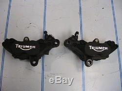 Triumph pair front brake calipers 83mm 955i speed triple Daytona 4 pot